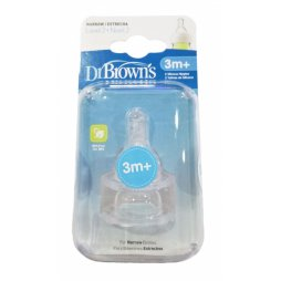 """Tetina Silicona ST +3M 2uds Dr Brown""""s"""