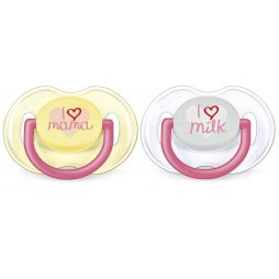 Avent Chupete 0-6 M I Love Rosa 2uds