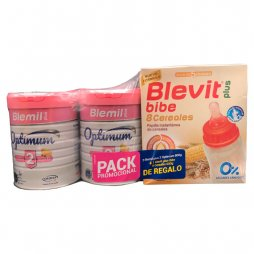 Blemil Plus 2 Optinum 2x800gr + Regalo Papilla 8 cereales 600gr