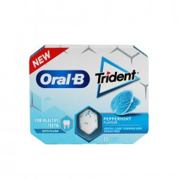 Oral B Chicle Trident Menta 10ud